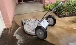 Burnaby Pressure Washing conrete corner of driveway