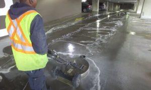 Burnaby Pressure Washing of parking garage