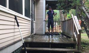 Burnaby Pressure Washing the deck