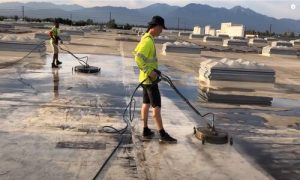 Burnaby Pressure Washing commercial rooftop washing