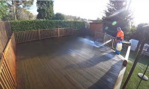 Burnaby Pressure Washing deck cleaning