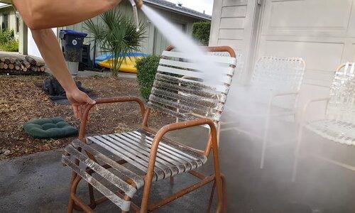 Burnaby Pressure Washing patio furniture